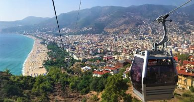 Alanya's cable way going up